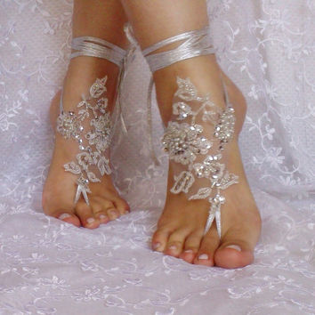 unique. silver sandals. silver unique Wedding sandals, lace sandals, hand sewing sandals, wedding gown, off, wedding bride, sandals