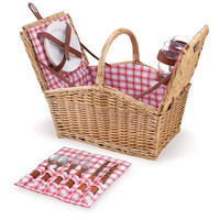 Picnic Time Piccadilly Lined Double Lid Picnic Basket 202-19-114