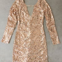 Sequined Offshore Party Dress