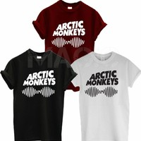 Arctic Monkeys Sound Wave T Shirt Tee Top Rock Band Concert - Album High