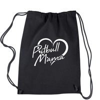Pitbull Mama Drawstring Backpack