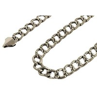Gun Metal Iced Out Cuban Link 36 Inch Chain Necklace