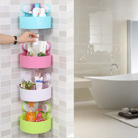 Multi-function Bathroom Kitchen Storage Plastic Rack [6451802950]