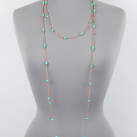 """72"""" turquoise stone cord knot boho layered wrap necklace earrings"""