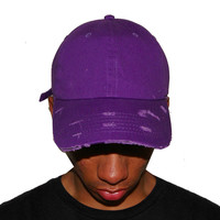 Vintage Culture Purple Distressed Dad Cap
