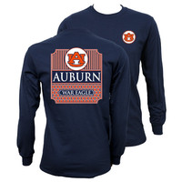 Southern Couture Auburn War Eagle Preppy Long Sleeve T Shirt