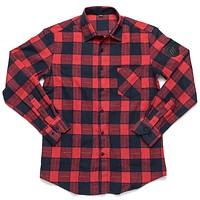 Merit Flannel - Red/Blue