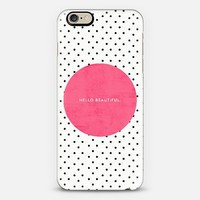 Pink Hello Beautiful iPhone 6 case by Allyson Johnson | Casetify