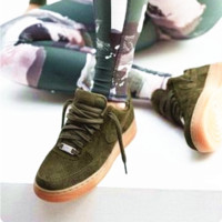 """""""NIKE""""AIR Running Sport Casual Shoes Sneakers Army green -khaki soles H-AA-SDDSL-KHZHXMKH"""