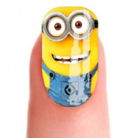 SET ONE Despicable Me MINIONS FULL NAIL ART WATER WRAPS waterslide Decal Transfer