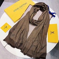 LV Trending Fashion Women Embroider Easy to match Silk Scarf