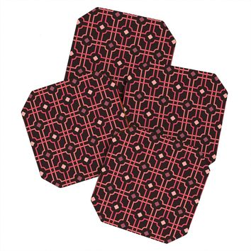 Caroline Okun Autumn Lattice Coaster Set