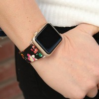 Apple Watch Leather Floral Bands | 38mm Leather 42mm Leather Bands