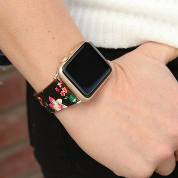 Apple Watch Leather Floral Bands   38mm Leather 42mm Leather Bands
