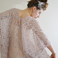 Lace bridal kimono cardigan Sheer bridal Kimono robe Kimono jacket kimono dress blush robe Kaftan Beach cover up Bridesmaids robe ELLE