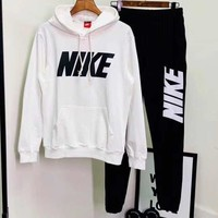 NIKE 2018 autumn and winter new trend men's sportswear two-piece white