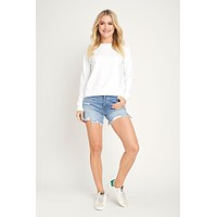 Alternative Apparel Basic White Sweatshirt