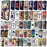 Hot Cute Funny Skull Painted Animal Case Cover Skin For Apple iPhone 4S 5 5S 5C