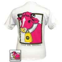 Girlie Girl Originals Preppy Glam Cow Bell T-Shirt