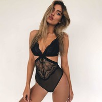 Ladies Hot Sale Sexy Lace Patchwork One-piece [13244661763]