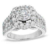 2 CT. T.W. Diamond Split Shank Engagement Ring in 14K White Gold - View All Rings - Zales