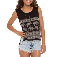 Evie Elephant Top - Black