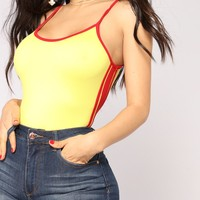 End Game Bodysuit - Yellow/Red