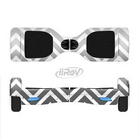 The White & Gradient Sharp Chevron Full-Body Skin Set for the Smart Drifting SuperCharged iiRov HoverBoard