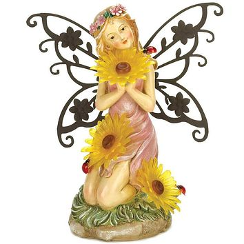 Solar Light-Up Fairy Garden Statue