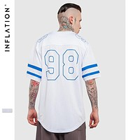 Summer Fashion New Collection Mesh Simple Streetwear Tshirt Hip Hop Clothing Men Extended Tshirts