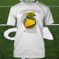 Cheesehead Nation Shirt Green Bay Packers T-Shirt Wisconsin Proud Go Pack Go Mens 2XL Ladies Tee Womens Kids L Youth Small Tshirt  Football