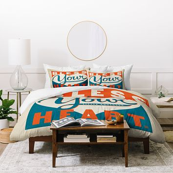 Anderson Design Group Bless Your Heart Duvet Cover