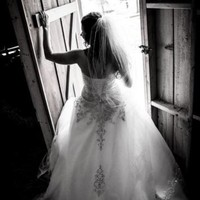 Strapless Tulle Ball Gown with Satin Bodice - Davids Bridal