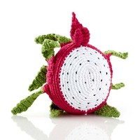 Dragon Fruit Fair Trade Knitted Baby Rattle
