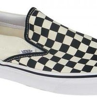 Vans Classic Slip On Shoe - Black and White Checkerboard