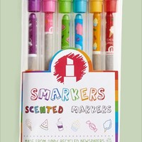 SCENTCO 'Smarkers' Scented Markers - White (6-Pack)