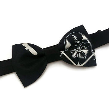 Darth Vadar Bow Tie • Star Wars Bow Tie • Black Bowtie • Fathers Day Gift • Sci-Fi Film Bowtie• Star Wars Accessories • Gifts For Guys