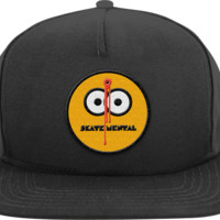 SKATE MENTAL SMILEY SHOT HAT ADJ-BLACK