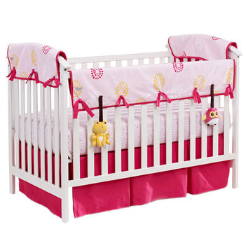 Eco-Teether™ Crib Rail Covers - Pink Flower Burst