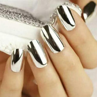 1g/Box Sliver Nail Art Glitter Powder Shinning Nail Mirror Powder Makeup Art DIY Chrome Pigment