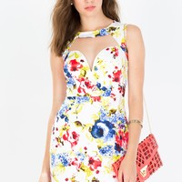 Sweet Botanical Bodycon Dress