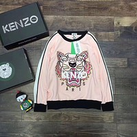 ''KENZO'' Women Fashion Casual Long Sleeve Sport Top Sweater Pullover Sweatshirt