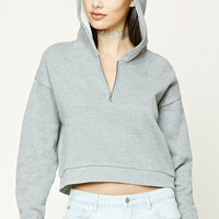 Partial Zip-Up Hoodie