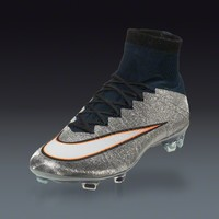 Nike Mercurial Superfly CR7 FG - Metallic Silver Firm Ground Soccer Shoes