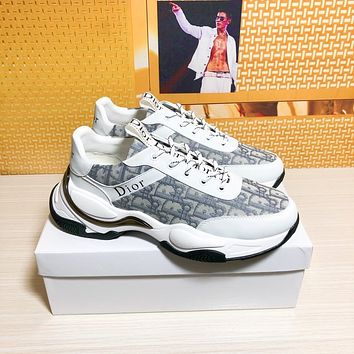 dior men fashion boots fashionable casual leather breathable sneakers running shoes 66