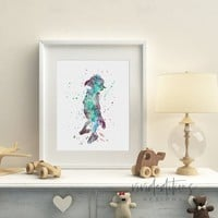 Dobby 2, Harry Potter Watercolor Art Print