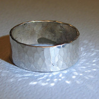 Hammered Sterling Silver Ring Handmade with Extra by NiciLaskin