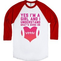 I Understand Football-Unisex White/Red T-Shirt