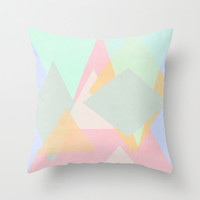 Abstract Shape Pattern Colour Home Decor Throw Pillow Cover Only - pastel colour, pretty pattern, gifts for her, home decor, spring trends