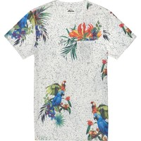 On The Byas - The Mountain Parrot T-Shirt - Mens Tee - White